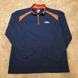 Denver Broncos NFL Athletic Pullover Shirt Jacket